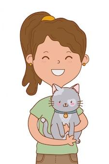 Kindheit glückliches kind cartoon