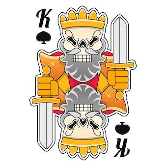 King crown illustration handgezeichnet auf weiß