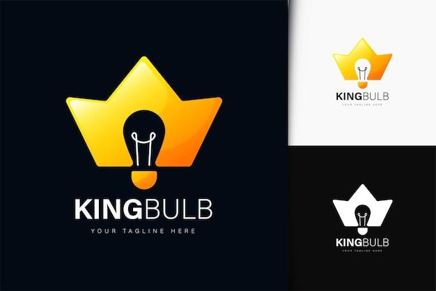 King glühbirne logo-design mit farbverlauf