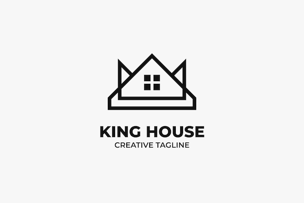 King house minimalistisches logo-geschäft