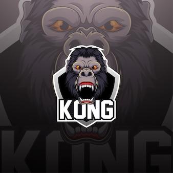 King kong esport maskottchen logo