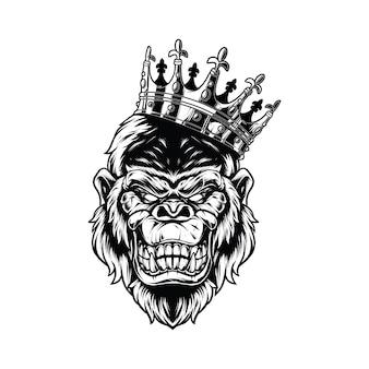 King kong isoliert auf weiß