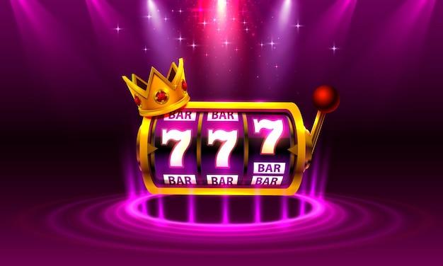 King slots 777 banner casino auf dem lila hintergrund.