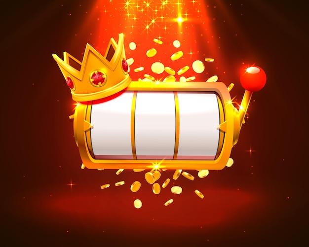 King slots 777 banner casino auf dem roten hintergrund.