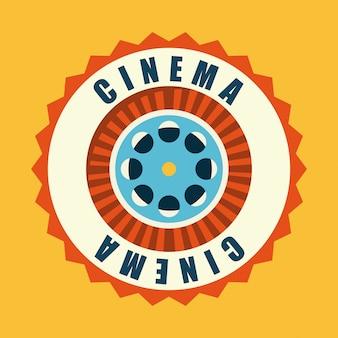 Kino gegenüber dem hintergrund
