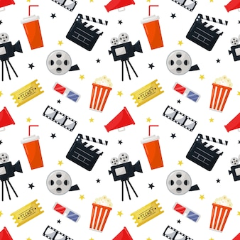 Kino icons muster nahtlos