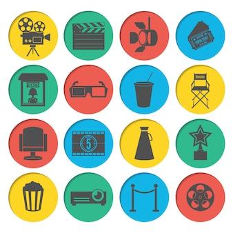 Kino icons set