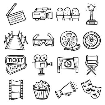 Kino-icons set Kostenlosen Vektoren