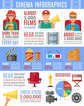 Kino infografiken layout