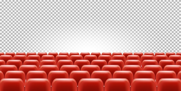 Kino- oder theatersitze in leerem saal