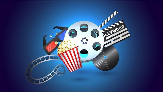 Kino poster oder banner-design.