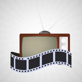 Kino tv vintage streifen film