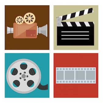 Kino-unterhaltung stellen icons