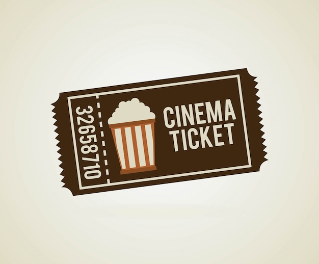 Kinodesign über beige hintergrundvektorillustration