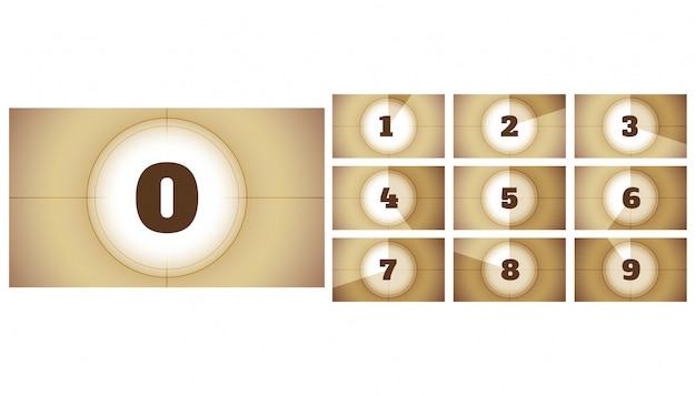 Kinofilm film countdown timer frames präsentation