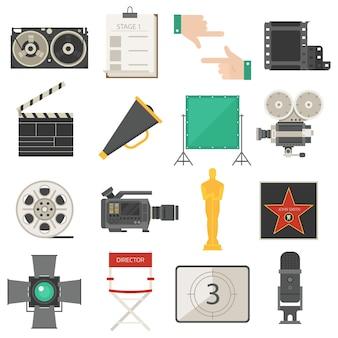 Kinofilmherstellung bearbeitet ausrüstungssatz