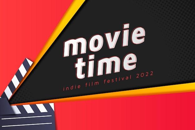 Kinofilmhintergrund im papierstil