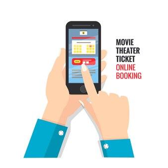 Kinokarte online buchen über smartphone