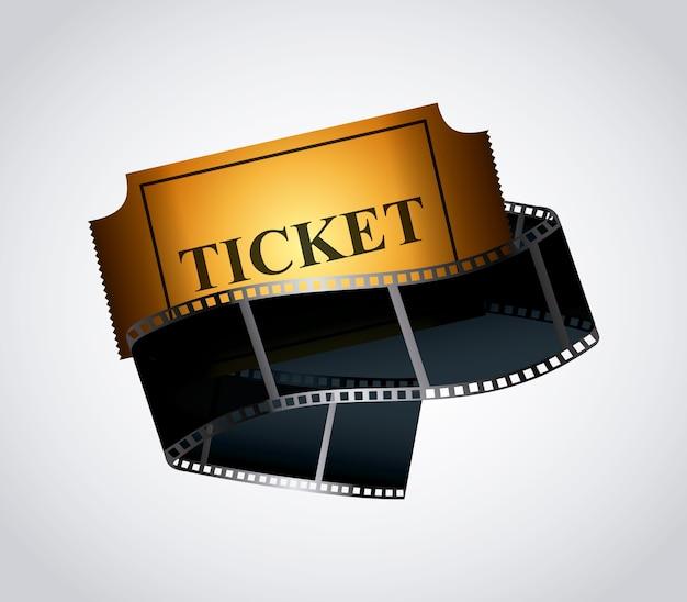 Kinokarte und filmband-symbol