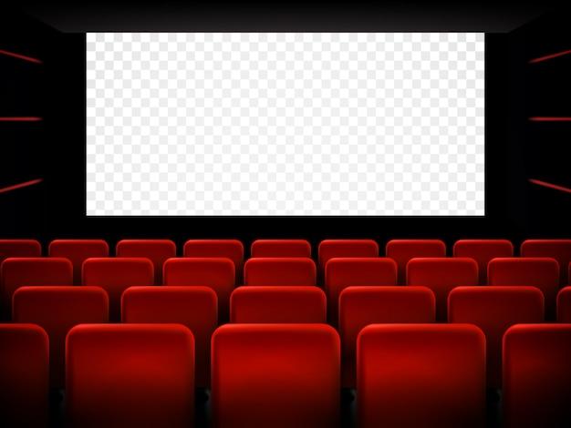 Kinopremierenplakat mit weißem bildschirm. hintergrund.
