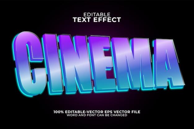 Kinotexteffekt isoliert auf dunklem purpur