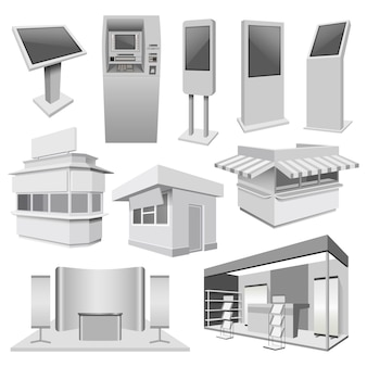 Kiosk-standstand-modellsatz
