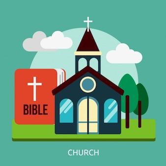 Kirche hintergrund-design