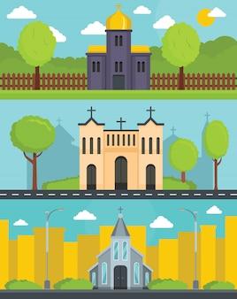Kirchengebäude hintergrund