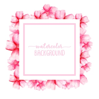 Kirschblüte-aquarellillustrationsvektor für hintergrund