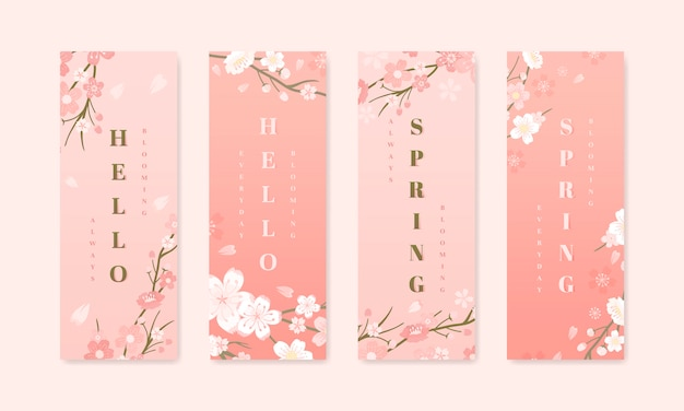 Kirschblüten-hintergrundkollektionen