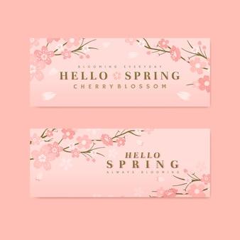 Kirschblüten-hintergrundsammlung