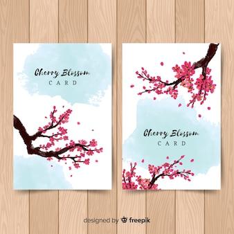 Kirschblüten-kartenpackung