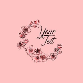 Kirschblüten kreis rosa