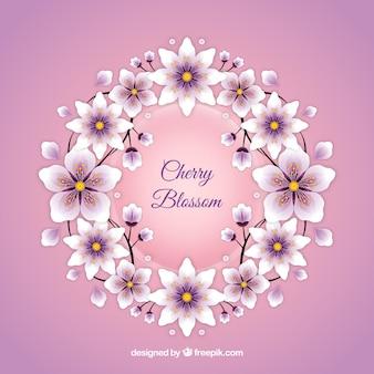 Kirschblütenhintergrund in der realistischen art