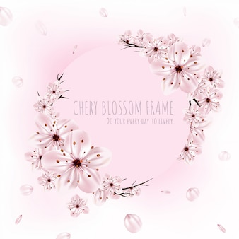 Kirschblütenrahmen.