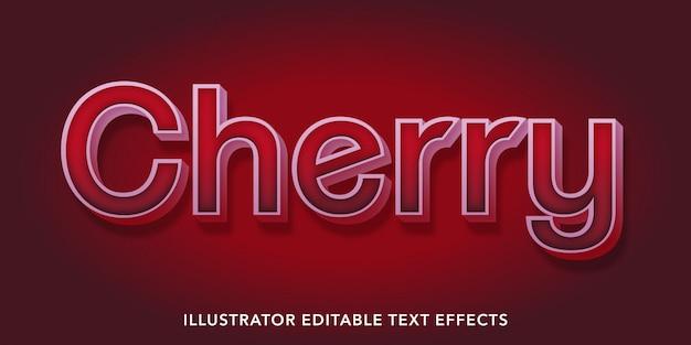 Kirsche bearbeitbare textstil-effekte