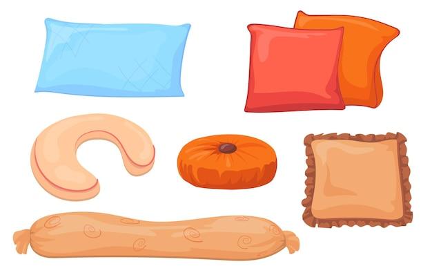 Kissen für sofas gesetzt
