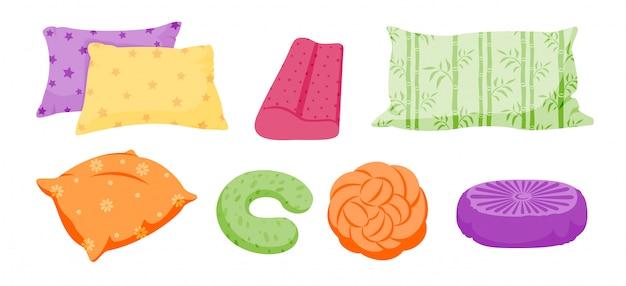 Kissen-set, cartoon. kissen für sofa, bett, schlaf, ruhe. klassischer feder-, bambus-öko-stoff