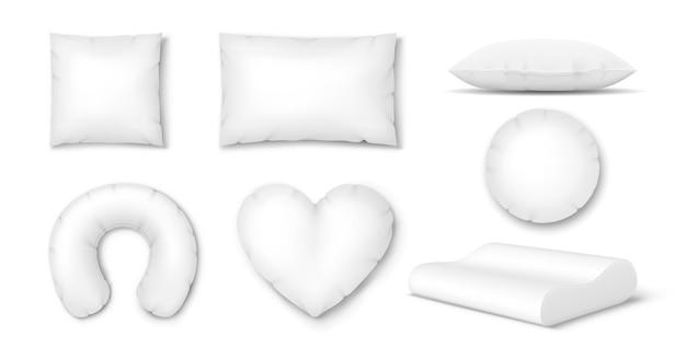 Kissen und bettkissen: aufblasbare reise, orthopädisch für den nacken, feder für bequemes schlafen