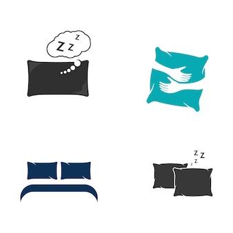 Kissen vektor icon design illustration vorlage