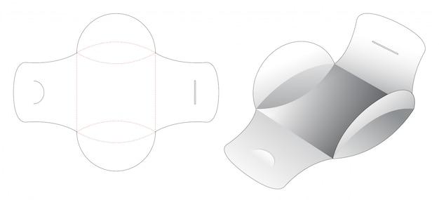 Kissenbezug mit gestanzter schablone mit mittlerem öffnungspunkt