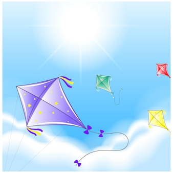 Kites hintergrund-design