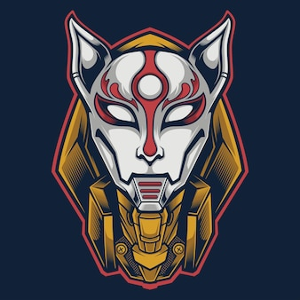 Kitsune logo maskot japanisch
