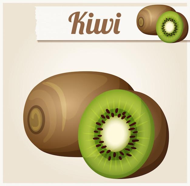 Kiwi. detailliertes vektorsymbol