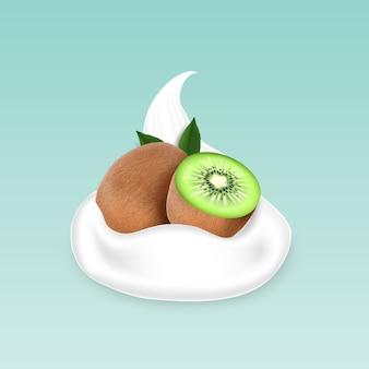 Kiwi und joghurt