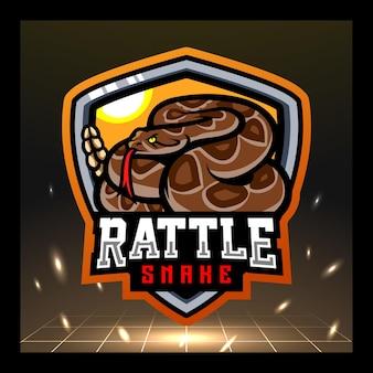 Klapperschlangen-maskottchen esport-logo-design