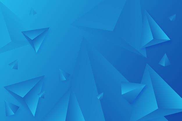 Klare farben für blauhintergrund des dreiecks 3d