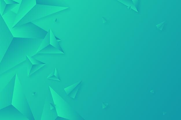 Klare farben für grünen hintergrund des dreiecks 3d