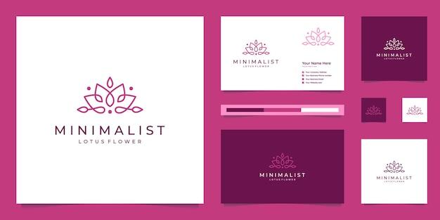 Klare linien der minimalistischen eleganten lotusblume