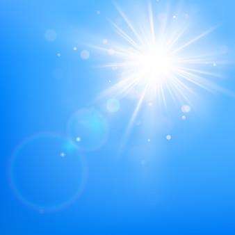 Klarer blauer himmel mit sonnenschein.